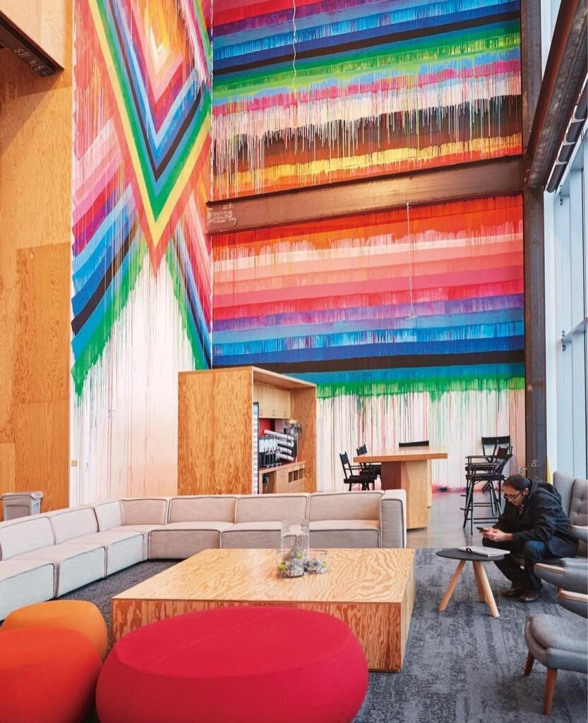 London Digital Marketing Agency painted art wall in office