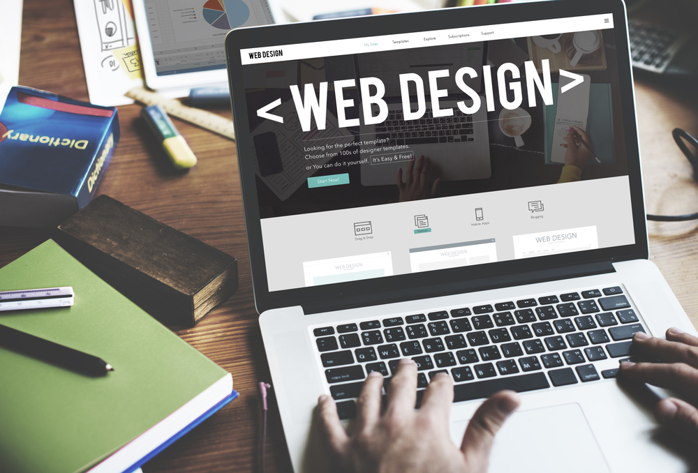 Website being successfully designed by expert